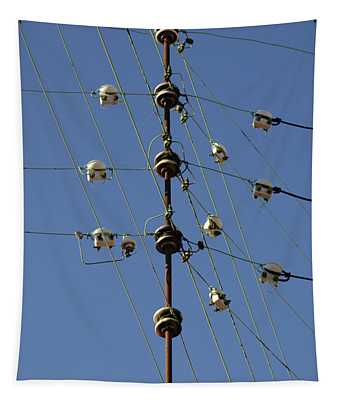 Electric Wires Junction Tapestry