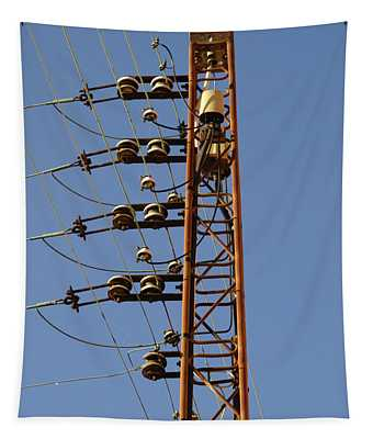 Electric Wires Pole Tapestry