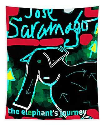 Elephants Journey Poster  Tapestry