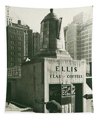 Ellis Tea And Coffee Store, 1945 Tapestry