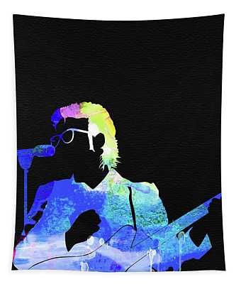 Elvis Costello Watercolor Tapestry