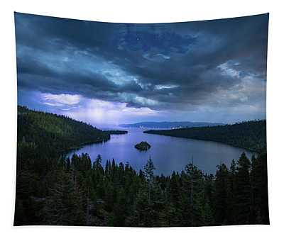 Emerald Bay Electric Skies By Brad Scott Tapestry