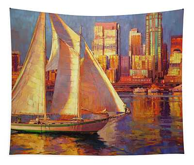 Emerald City Twilight Tapestry