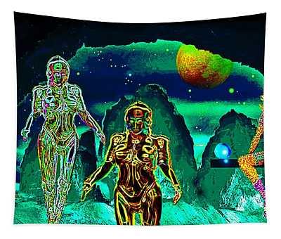 Emerald  World Tapestry