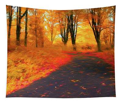 Emmaus Community Park Path - Colors Of Fall Tapestry