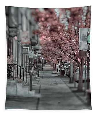 Empty Sidewalk Tapestry