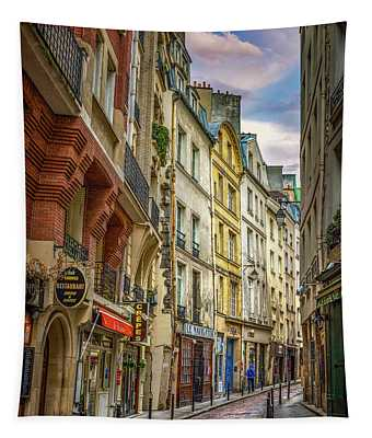 Empty Streets Of Paris Tapestry