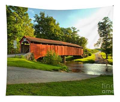 Enslow Covered Bridge Landcape Tapestry