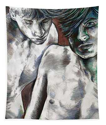 Entanged Boys Tapestry