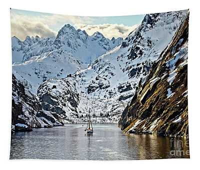 Entering The Trollfjord, Norway Tapestry