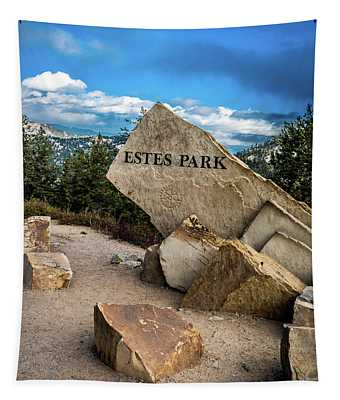 Entrance To Estes Park Tapestry