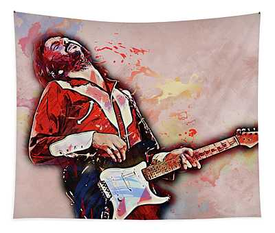 Eric Clapton - 14 Tapestry by Andrea Mazzocchetti