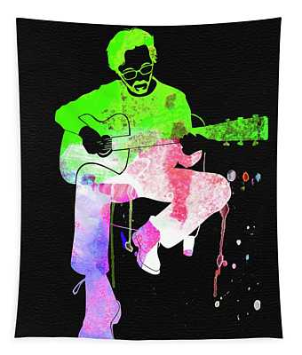 Eric Clapton Stone Watercolor Tapestry