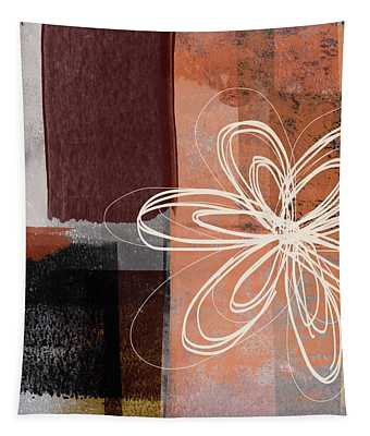 Espresso Flower 1-  Art By Linda Woods Tapestry