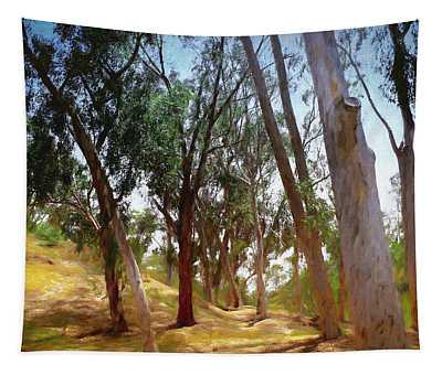 Eucalyptus Grove Oil Painting Tapestry