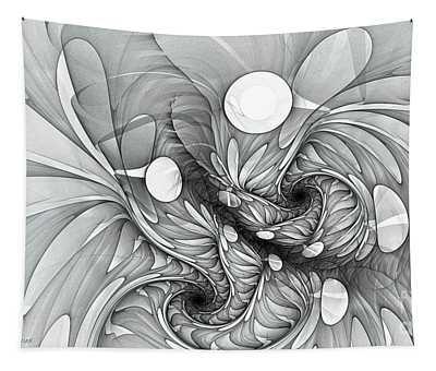 Euphoria Black And White Tapestry