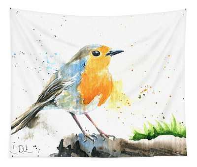 European Robin Tapestry