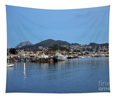 Evening In Morro Bay Tapestry