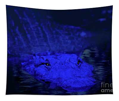Everglades At Night Tapestry