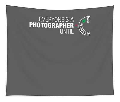 Everyone's A Photographer Until Manual Mode T Shirt For Men Tapestry