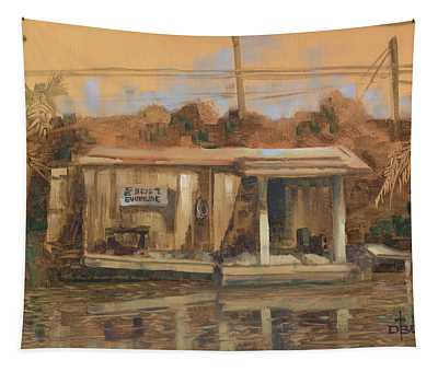 Evinrude Service And Bait Shop Tapestry