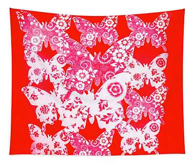 Exotic Red Wings Tapestry