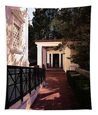 Exterior Amazing Getty Villa  Tapestry