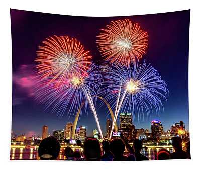 Fair St. Louis Fireworks 6 Tapestry