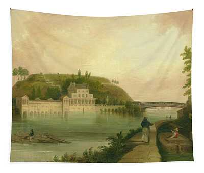 Fairmount Waterworks About 1838 Tapestry