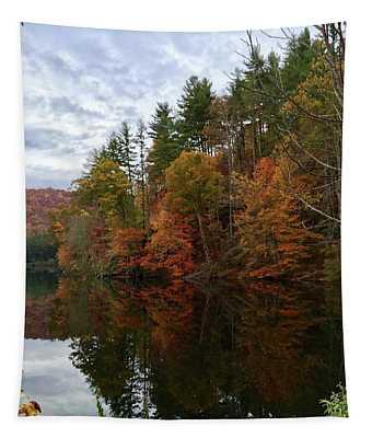 Fall At Lake Logan Tapestry