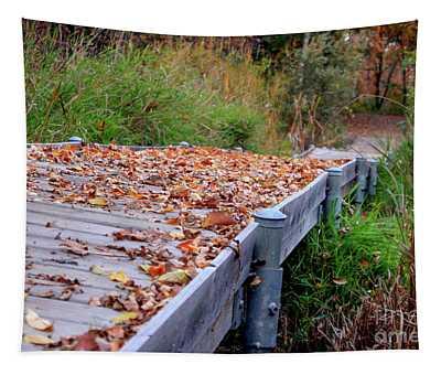 Fall Boardwalk Tapestry