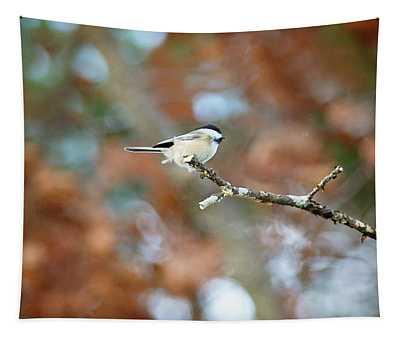Fall Chickadee Tapestry