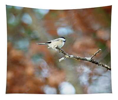 Fall Chickadee Tapestry