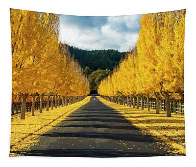 Fall In Wine Country Tapestry