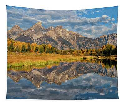 Fall Reflections In The Tetons Tapestry