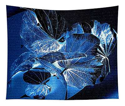 Fallen Leaves At Midnight Tapestry