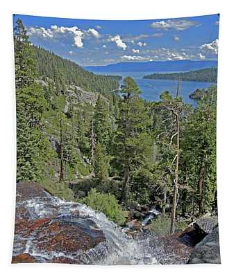 Falls Above Emerald Cove Tapestry