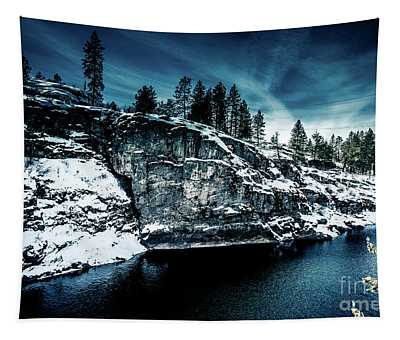 Tapestry featuring the photograph Falls Park Winter Revisited by Matthew Nelson
