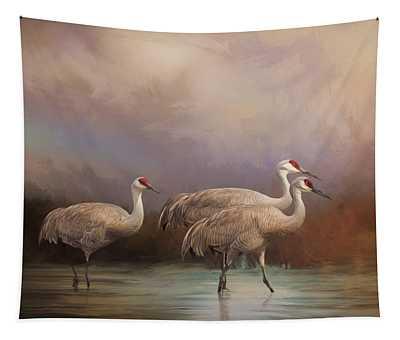 Family - Bird Art Tapestry