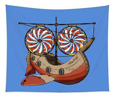 Fantasy Airship Tapestry