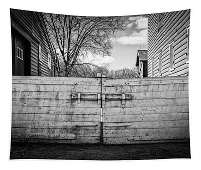 Tapestry featuring the photograph Farm Gate by Steve Stanger