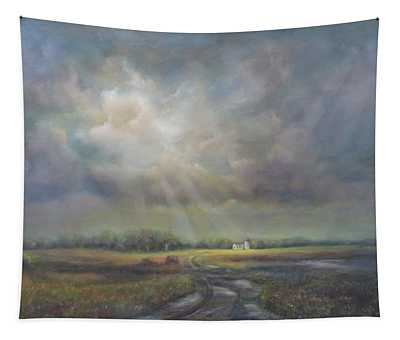 Farm In Spring Tapestry