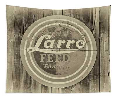 Farmhouse Feed Sign Tapestry