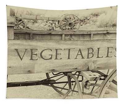 Farmhouse Vegetable Wagon Tapestry