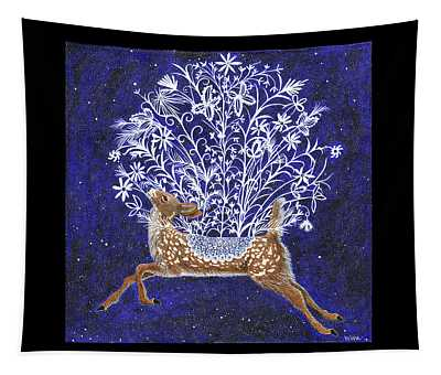 Fawn Bouquet Tapestry