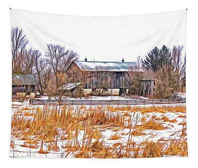 February Farm - Paint Tapestry