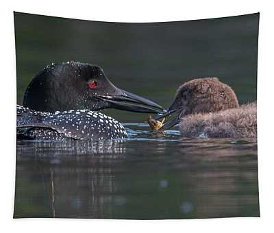 Feeding Time For Baby Loon Tapestry