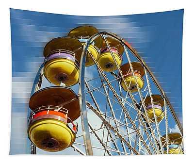 Ferris Wheel On Mosaic Blurred Background Tapestry