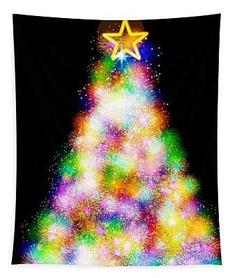 Fiber Optic Christmas Tree Tapestry