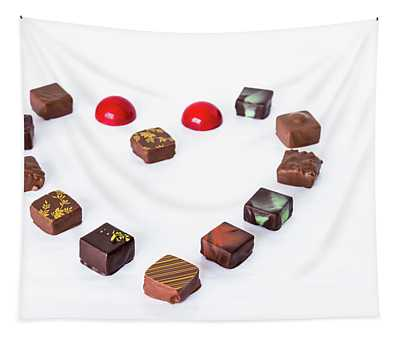 Fine Chocolate Displayed In A Form Of Heart.  Tapestry